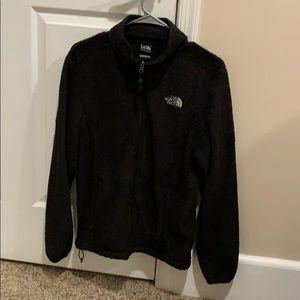 All black fuzzy north face